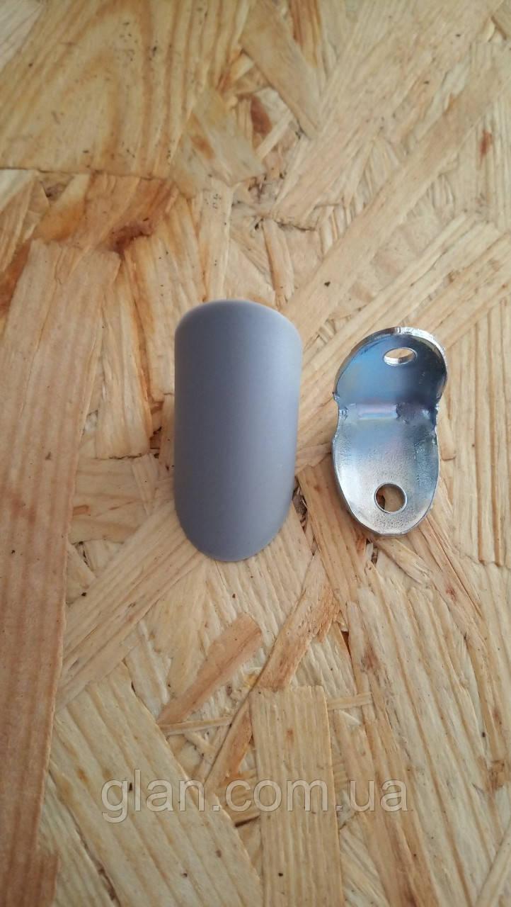 Угол металлический с крышкой маленький Серый