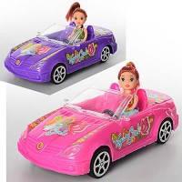 Машина с куклой 5577  24см, кукла 10см, 2 вида, в пакете 24*11*8см
