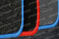 Mercedes-Benz Actros 2011- ворсовые коврики (чёрный-красный) ЛЮКС