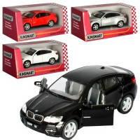 Машина метал. Kinsmart BMW X6 KT5336W инерционная, откр. двери, в коробке 16*8.5*7.5см