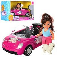 Машина с куклой K899-14  22см, кукла 12см, собачка, в коробке 24.5*16*12см