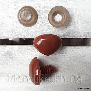 Носики для игрушек, высота: 11 мм, ширина: 14 мм, Цвет: Коричневый (5 шт.)