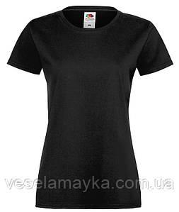 Черная женская футболка (Премиум)