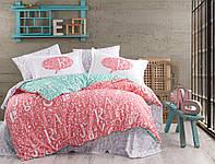 Комплект постельного белья  Hobby поплин размер евро Dream кораловий