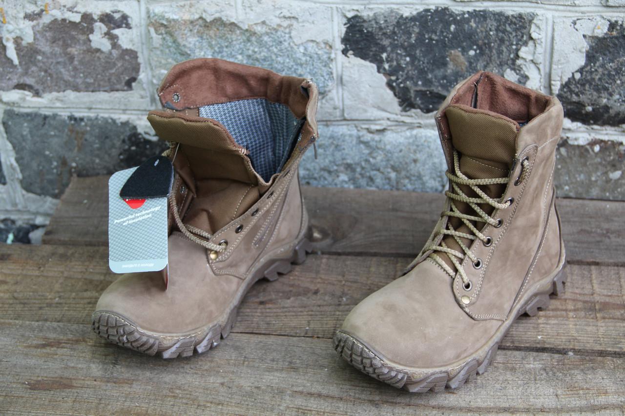 Ботинки берцы зимние из натуральной кожи и утеплителя на фольгированной основе W8001