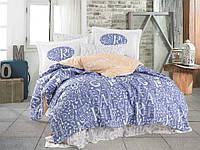 Комплект постельного белья  Hobby поплин размер евро Dream ліловий
