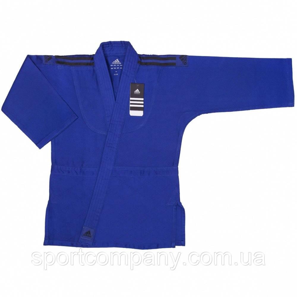 Кимоно для дзюдо Adidas Club 350 гм2 (J350В, синее с черными полосами)