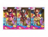 """Кукла """"Winx"""" 636  26см, фея, 3 вида, с крыльями, с аксесс., в коробке 30*18.5*4.5см"""
