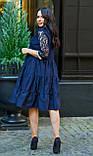 Нарядное платье женское Коттон и гипюр Размер 50 52 54 В наличии 4 цвета, фото 2