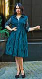 Нарядное платье женское Коттон и гипюр Размер 50 52 54 В наличии 4 цвета, фото 3