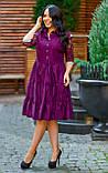 Нарядное платье женское Коттон и гипюр Размер 50 52 54 В наличии 4 цвета, фото 4