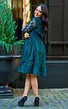 Нарядное платье женское Коттон и гипюр Размер 50 52 54 В наличии 4 цвета, фото 5