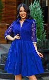 Нарядное платье женское Коттон и гипюр Размер 50 52 54 В наличии 4 цвета, фото 7