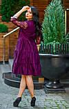 Нарядное платье женское Коттон и гипюр Размер 50 52 54 В наличии 4 цвета, фото 8