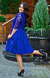 Нарядное платье женское Коттон и гипюр Размер 50 52 54 В наличии 4 цвета, фото 9