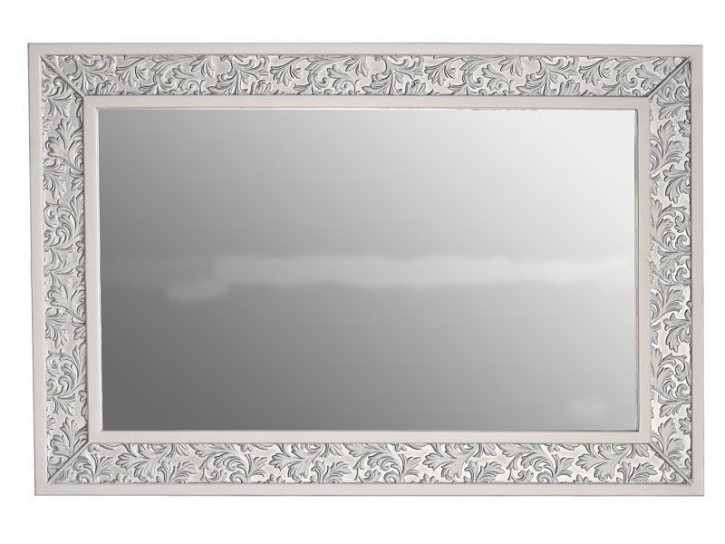 Зеркало Атолл Валенсия 130 слоновая кость (патина серебро), 1175х30х815 мм