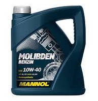 Моторное масло полусинтетическое Mannol (Манол) Molibden Benzin 10w-40 4л