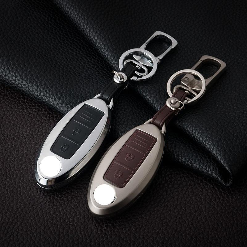 Металлический чехол для ключа Nissan quachqai,Juke,Micra,GT-R,leaf, Almera,Patrol,Murano,Pathfinder,teana