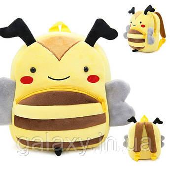 Рюкзак Пчелка детский плюшевый для девочки 3 года в садик KAKOO