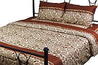 Комплект постельного белья Руно Евро сатин арт.845.137К_40-0377 Brown