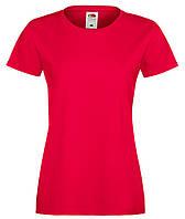 Красная женская футболка (Премиум)