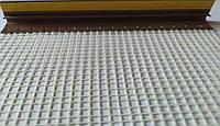 Приоконный профиль с сеткой и манжетой ПВХ 6мм 2,5м коричневый