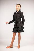 Пиджак школьный удлиненный для девочек, размеры 30, 32, 34, 36. (П-52)