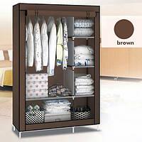 Шкаф тканевый - Текстильный гардероб  HCX «88105 brown » 105х45х170 см. Коричневый, фото 1