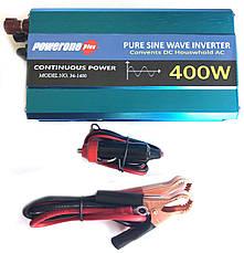 Перетворювач з чистою синусоїдою PowerOne Plus 12V-220V 400W, фото 3