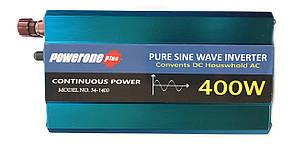 Перетворювач з чистою синусоїдою PowerOne Plus 12V-220V 400W