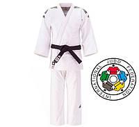 Кимоно для дзюдо Adidas Champion 2 с лицензией IJF 730 гм2 (J-IJF, белое), фото 1