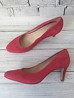 Женские замшевые туфли на среднем каблучке Minelli Бразилия 39р