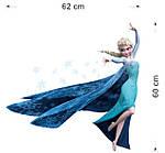 Интерьерная наклейка - Холодное сердце Frozen Эльза 3D (62х60см), фото 3