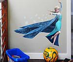 Интерьерная наклейка - Холодное сердце Frozen Эльза 3D (62х60см), фото 5