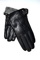 Подростковые кожаные перчатки на махре оптом