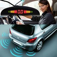 Парктроник автомобильный UKC на 8 датчиков + LCD монитор (тёмно серые датчики)