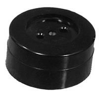Розетка наружная одинарная круглая чёрная Житомир 16А 250В