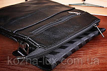 Вместительная мужская сумка из натуральной кожи, Италия, фото 3