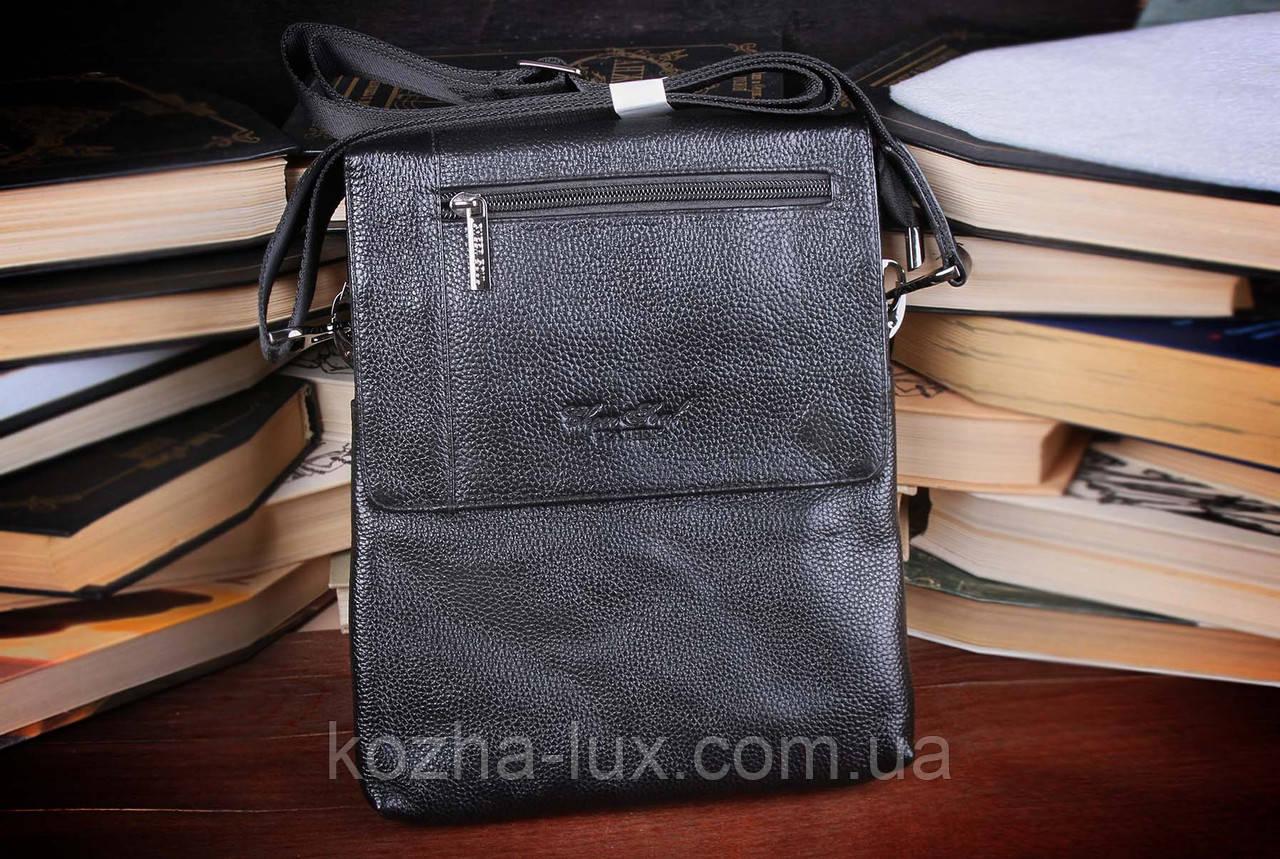 Вместительная мужская сумка из натуральной кожи, Италия