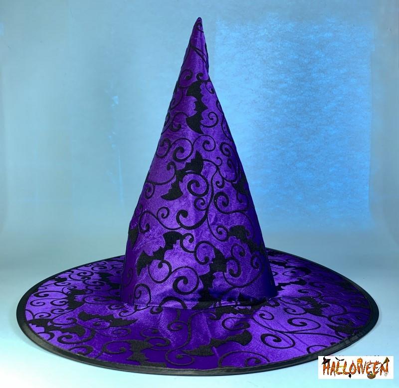 Колпак фиолетовый с летучими мышами