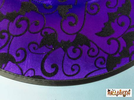 Колпак фиолетовый с летучими мышами, фото 2