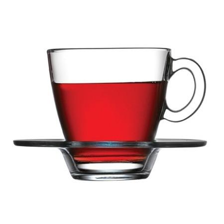 Чашка с блюдцем для чая  Aquatic 95040 (6шт)