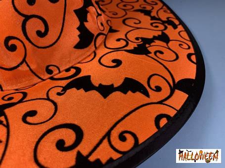 Колпак оранжевый с летучими мышами, фото 2