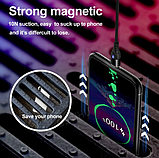 GETIHU Магнитный кабель USB Type-C 2 метра быстрая зарядка 3А Android Samsung Xiaomi для зарядки Цвет чёрный, фото 4