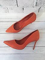 Женские кожаные туфли лодочки на каблуке Cosmoparis 35p
