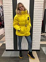 Куртка-пуховик желтая CLASNA 127
