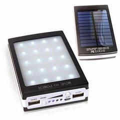 Power Bank 90000 mAh с солнечной батареей и Led панелью