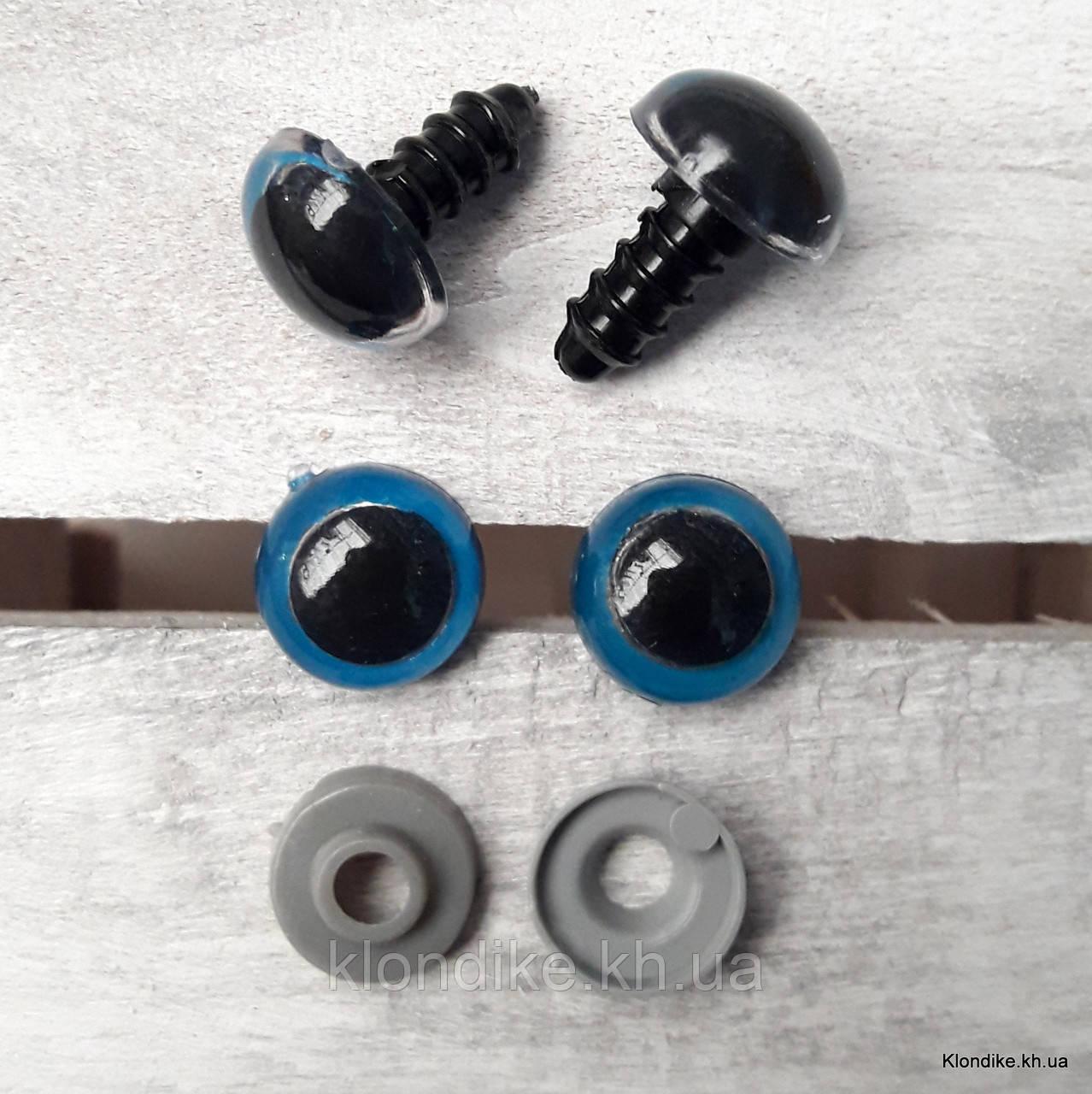 Вічка для іграшок, Акрил, 12 мм, Колір: Синій (5 пар)