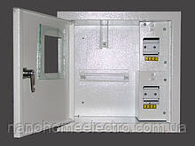 Внутренний ящик для 1 фазного счетчика под 4 автомата