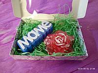 Мыло ручной работы набор маме и роза